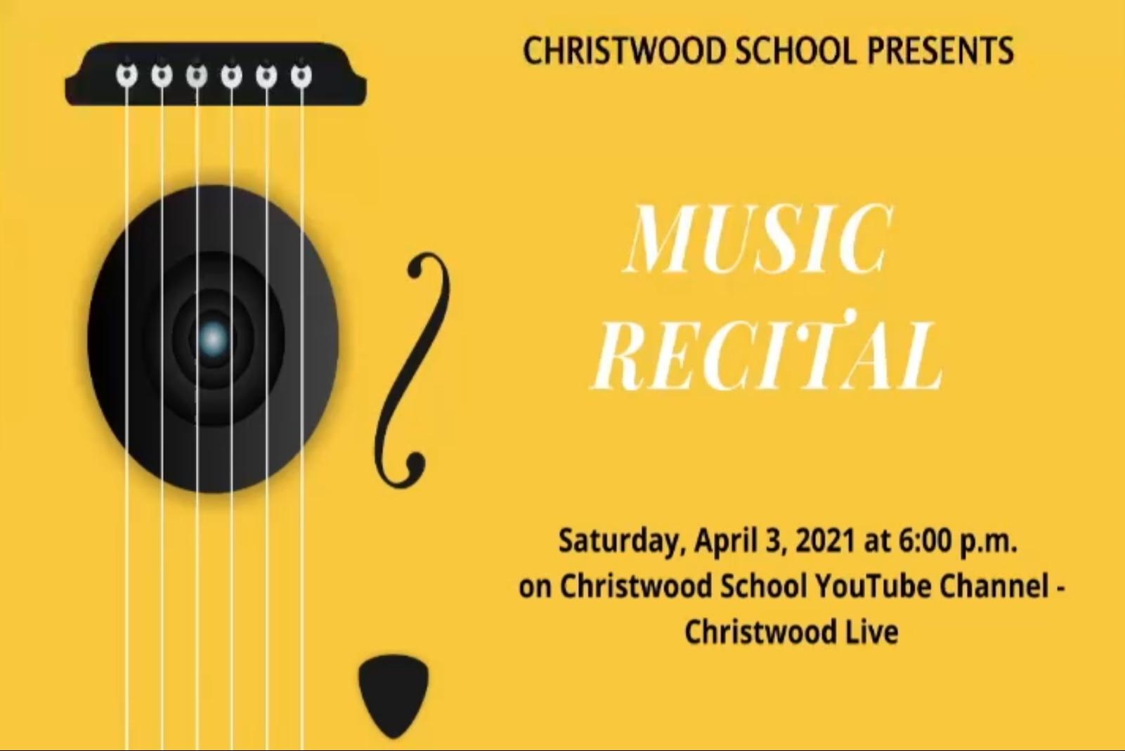 MUSIC RECITAL - April 3, 2021